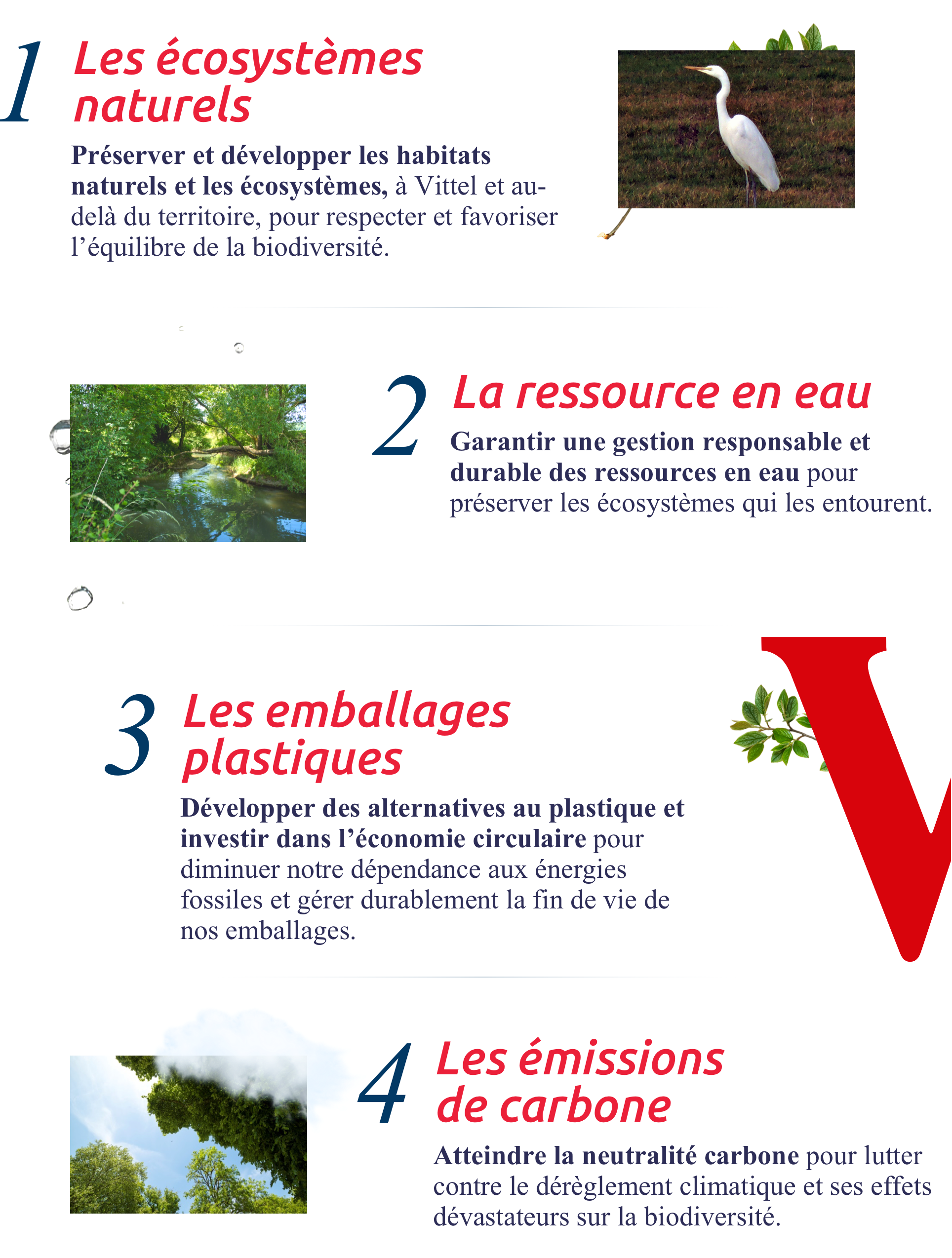 4 domaines d'actions